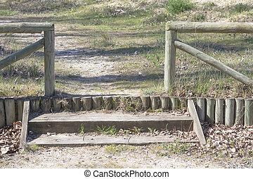 木製である, 田舎, 手すり, rundowns