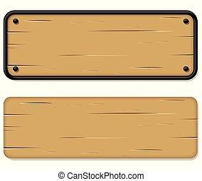 木製である, 白い背景, サイン
