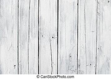 木製である, 白, 板, 外気に当って変化した