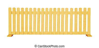 木製である, 白, 隔離された, フェンス