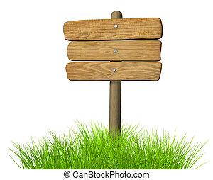 木製である, 看板
