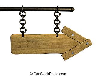 木製である, 看板, 3d