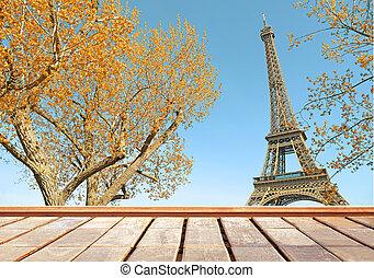 木製である, 秋, エッフェル, bacony, パリ