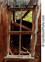 木製である, 窓, 外気に当って変化した