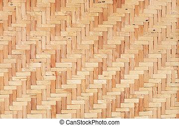 木製である, 竹, 手ざわり, 背景, はたを織りなさい