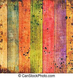 木製である, 背景, 鮮やか, カラフルである, 板