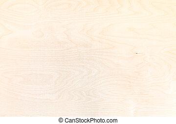 木製である, 自然, 合板, 背景, シラカバ