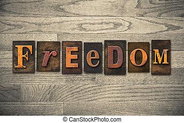 木製である, 自由, 概念, 凸版印刷