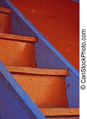木製である, 色, 明るい, 階段