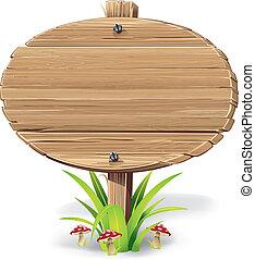 木製である, 草, mushroom., 印