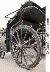 木製である, 車輪, の, antiquarian, 乗り物