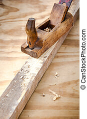 木製である, 道具, 飛行機, 古い, 大工