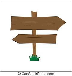 木製である, 道標