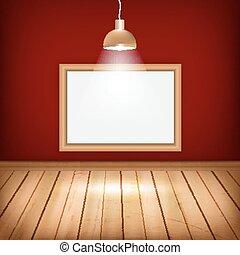 木製である, 部屋, 空, 床