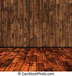 木製である, 部屋