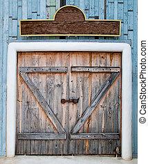 木製である, 門, 古い, 農場