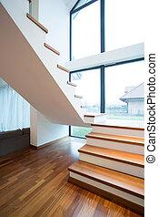 木製である, 階段, 孤立した 家