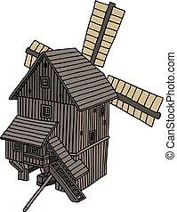 木製である, 風車, 古い