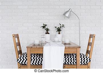 木製である, 食事をする, 2, テーブル