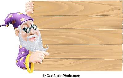 木製である, 魔法使い, 空白のサイン