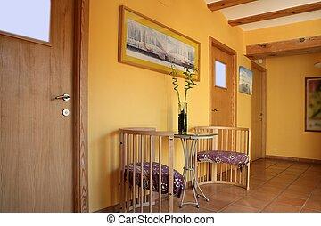 木製である, 黄色, lobbit, ビーム, 廊下, スペイン語