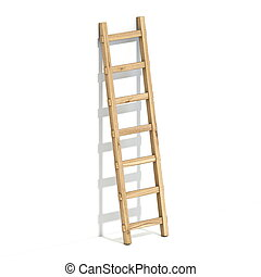 木製である, 3d, はしご