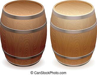木製である, barrels.