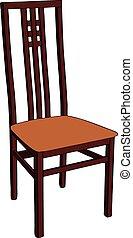 木製である, chair.