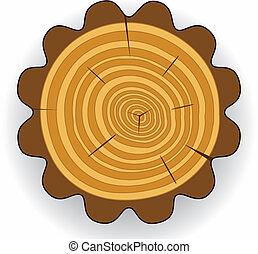 木製である, clip-art, 切口