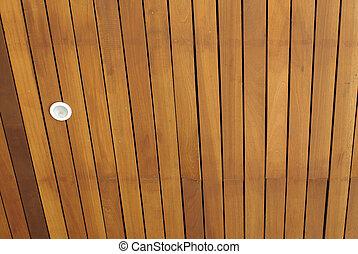 木製である, downlight, 天井