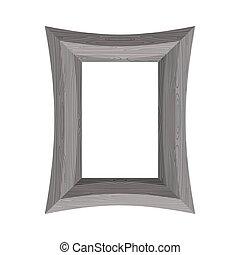 木製である, frame., 映像, 型, vecto
