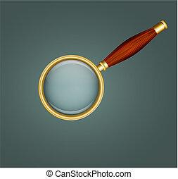 木製である, magnifier, ハンドル