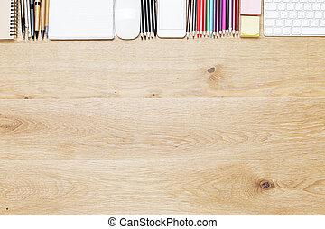 木製のテーブル, ∥で∥, オブジェクト