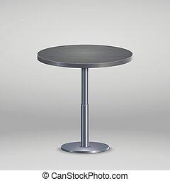 木製のテーブル, ラウンド, プレート