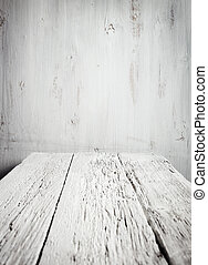 木製のテーブル, 古い, 空