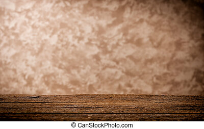 木製のテーブル, 背景