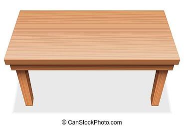 木製のテーブル, 長い間, 手ざわり