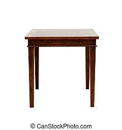 木製のテーブル, 隔離された