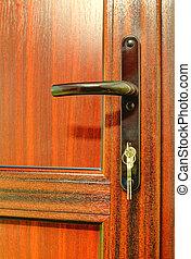 木製のハンドル, 現代, ドア