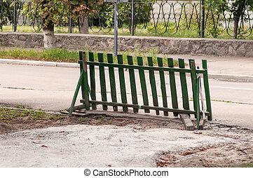 木製のフェンス, ブロックする, 方法