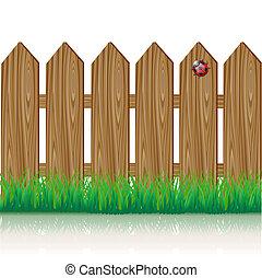 木製のフェンス