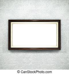 木製のフレーム, 上に, 壁紙