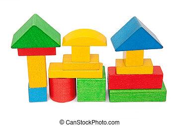 木製のブロック
