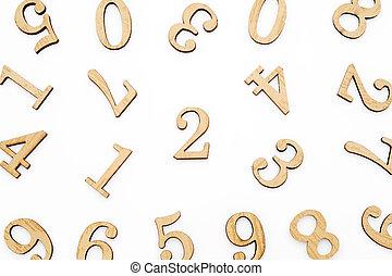 木製のブロック, 数