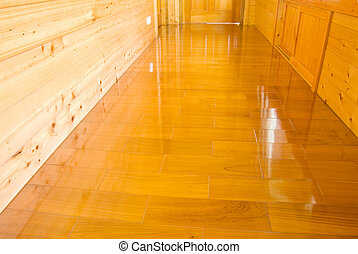 木製の壁, そして, 床