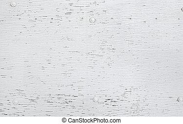 木製の壁, 白