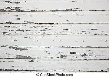 木製の壁, 白, 外気に当って変化した, 納屋