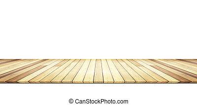 木製の壁, 白, 隔離された, 背景