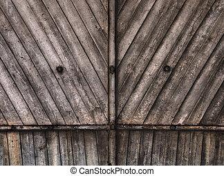 木製の壁, 背景