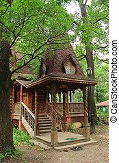 木製の家, ポーチ